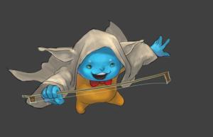 Flint cosplaying as Yoda step 4