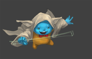Flint cosplaying as Yoda step 5