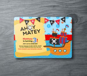 Ahoy Matey Birthday Invitation