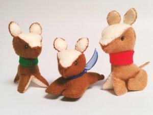 Dog Felt Dolls Group