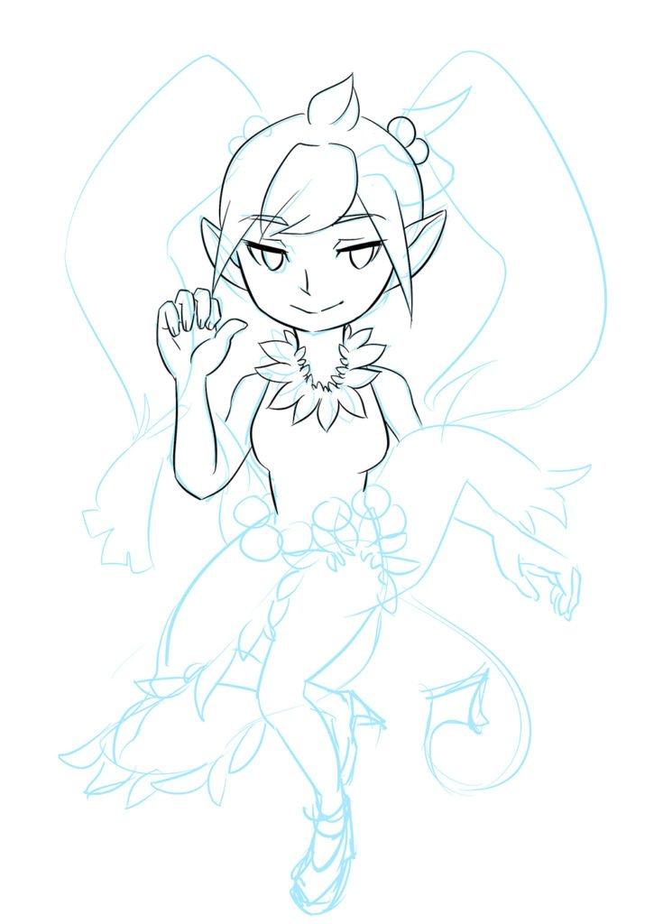 devil girl sketch