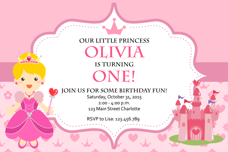Princess birthday invitation card princess birthday invitation card download here filmwisefo
