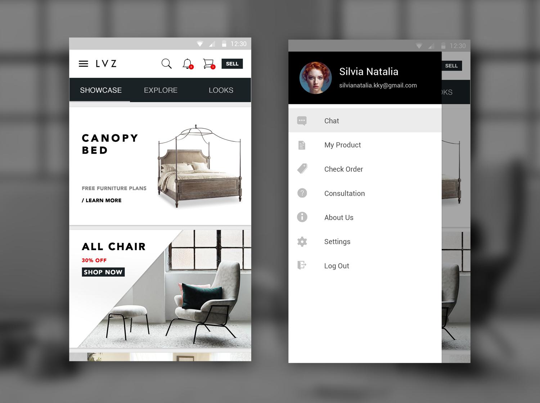 High Quality Furniture Apps Concept. Lvz_app